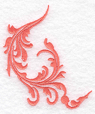 Embroidery Design: Swirl element 5A 2.74w X 3.31h