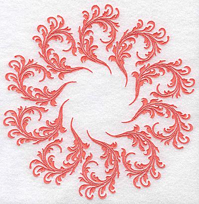 Embroidery Design: Swirl element 5D 7.68w X 7.73h