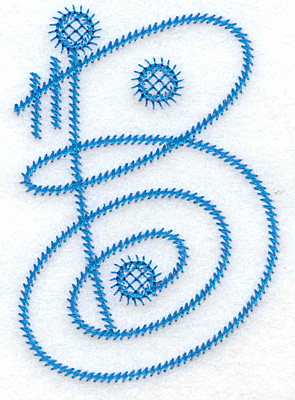 Embroidery Design: B large 2.54w X 3.65h