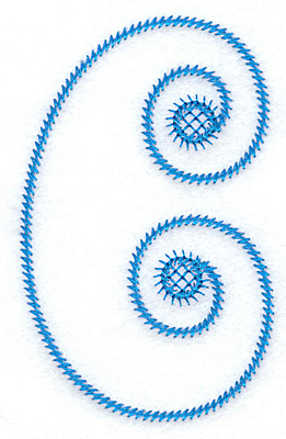 Embroidery Design: C large 2.24w X 3.61h