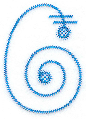 Embroidery Design: G large 2.54w X 3.60h