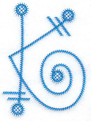 Embroidery Design: K large 2.80w X 3.87h