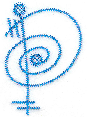 Embroidery Design: P large 2.60w X 3.85h