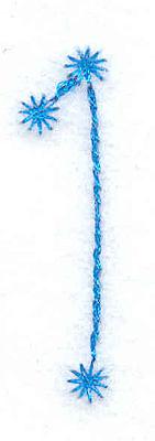 Embroidery Design: 1 small 0.40w X 1.61h