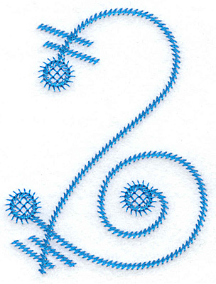 Embroidery Design: 2 large 2.78w X 3.63h
