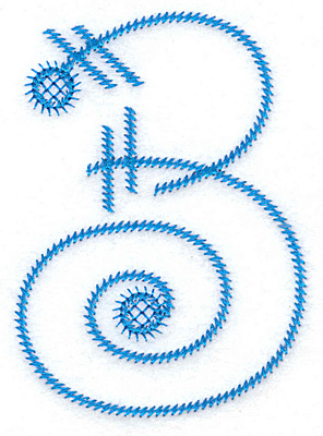 Embroidery Design: 3 large 2.58w X 3.61h