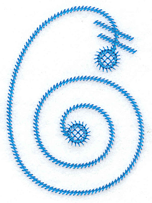 Embroidery Design: 6 large 2.61w X 3.61h