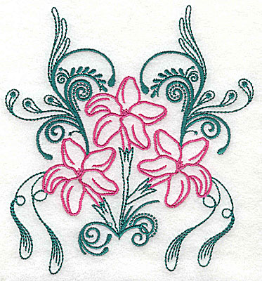 Embroidery Design: Sweet Jasmine design A large 7.31w X 8.06h