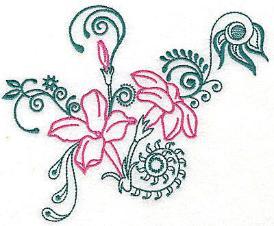 Embroidery Design: Sweet Jasmine design B large 8.88w X 7.25h