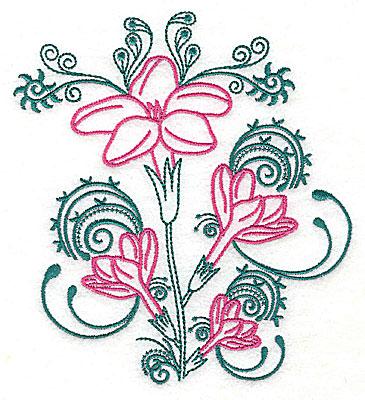 Embroidery Design: Sweet Jasmine design C large 7.31w X 8.06h