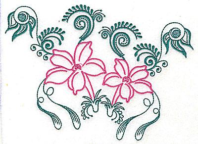 Embroidery Design: Sweet Jasmine design D large 10.19w X 7.31h