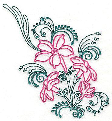 Embroidery Design: Sweet Jasmine design E large 7.25w X 8.00h