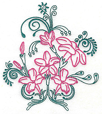 Embroidery Design: Sweet Jasmine design F large 7.31w X 8.31h