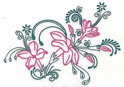 Embroidery Design: Sweet Jasmine design G large 10.19w X 7.25h