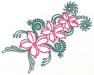 Embroidery Design: Sweet Jasmine design I large 8.88w X 7.25h