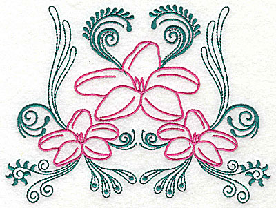 Embroidery Design: Sweet Jasmine design J large 9.75w X 7.25h