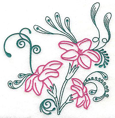 Embroidery Design: Sweet Jasmine design L large 7.25w X 7.81h