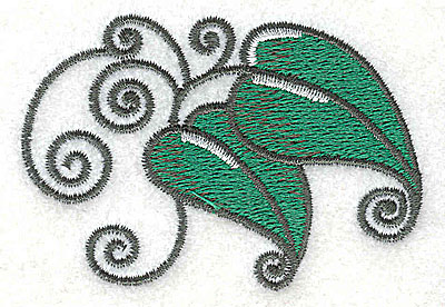 Embroidery Design: Leaves and vines A 2.90w X 1.95h