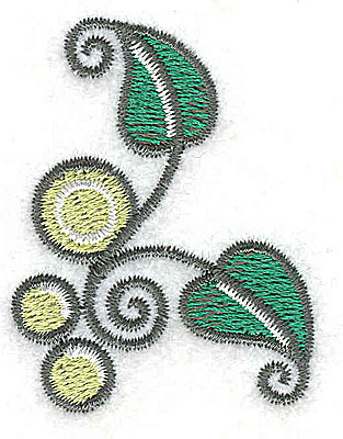 Embroidery Design: Leaves and vines C 1.55w X 2.01h