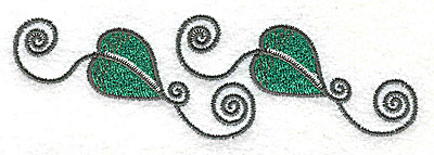 Embroidery Design: Leaves and vines E 4.26w X 1.33h