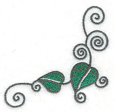 Embroidery Design: Leaves and vines I 3.03w X 2.97h