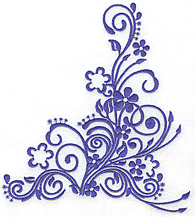 Embroidery Design: Daisy swirl large 6.46w X 7.15h