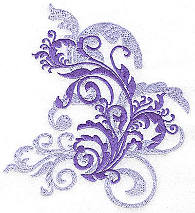 Embroidery Design: Leaf swirls large 6.44w X 7.05h