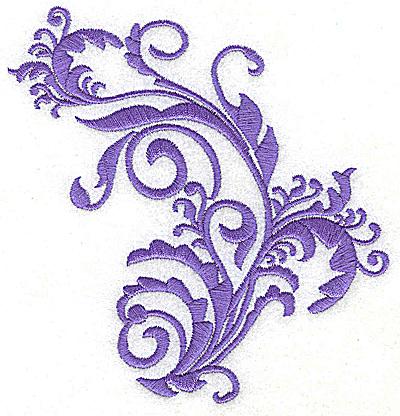 Embroidery Design: Leaf swirls single color 4.70w X 4.91h