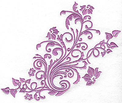 Embroidery Design: Ivy swirls large 7.72w X 6.46h