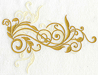 Embroidery Design: Leafy swirls large 8.33w X 6.47h
