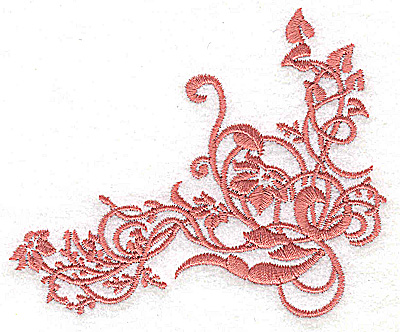 Embroidery Design: Floral ivy swirl small 3.87w X 3.20h