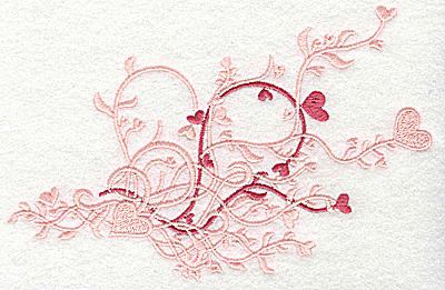 Embroidery Design: Heart swirls medium 6.97w X 4.49h