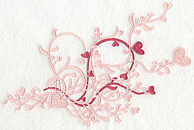 Embroidery Design: Heart swirls large 9.06w X 5.83h