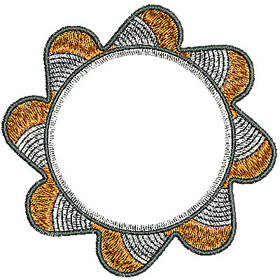 Embroidery Design: Southwest circle 1 3.24w X 3.20h