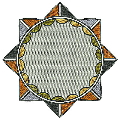 Embroidery Design: Southwest circle 2 6.01w X 6.02h