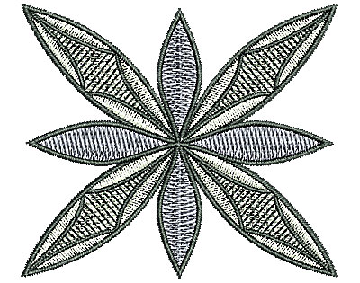 Embroidery Design: Southwest flower design 2.87w X 2.49h