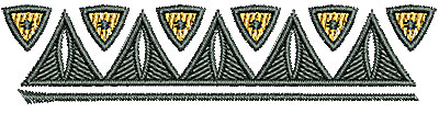 Embroidery Design: Southwest border 3.15w X 0.71h