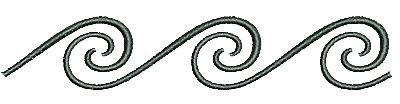 Embroidery Design: Southwest swirls 4.48w X 0.83h
