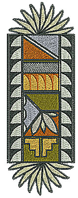 Embroidery Design: Southwest decorative design with ends  2.37w X 6.77h