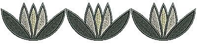 Embroidery Design: Southwest floral border 6.19w X 1.21h