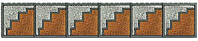 Embroidery Design: Southwest aztec border 6.24w X 1.11h