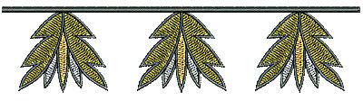 Embroidery Design: Southwest leaf border 6.20w X 1.47h