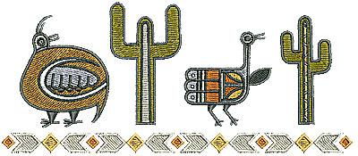 Embroidery Design: Southwestern border 1 6.76w X 2.90h