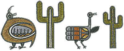 Embroidery Design: Southwestern border 2 6.02w X 2.42h