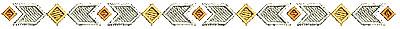 Embroidery Design: Southwestern border design 1 6.76w X 0.37h