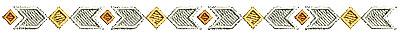 Embroidery Design: Southwestern border design 2 6.59w X 0.37h