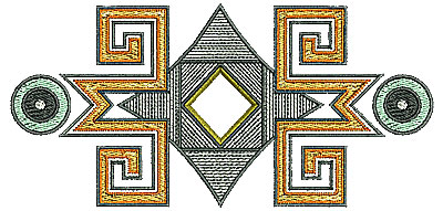 Embroidery Design: Southwestern design 1 5.51w X 2.65h