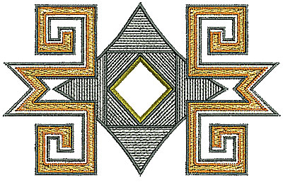 Embroidery Design: Southwestern design 2 4.25w X 2.65h