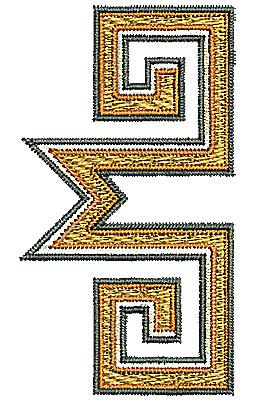 Embroidery Design: Southwestern design 3 1.44w X 2.61h