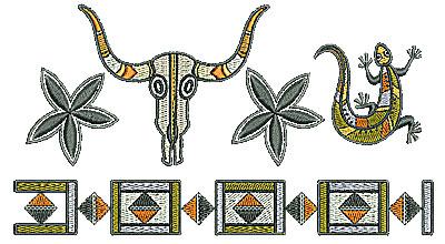 Embroidery Design: Southwestern design border 6.77w X 3.72h